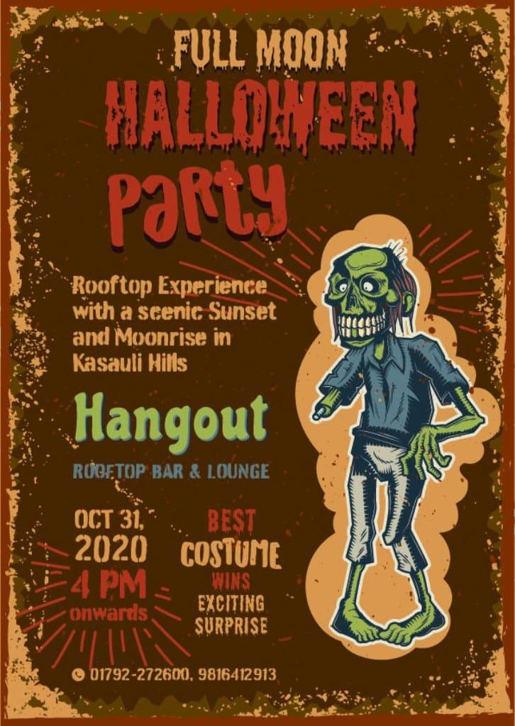 Poster of Halloween Party in Kasauli Hotels Regency